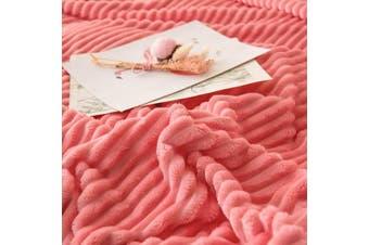 Cuddly Solid Soft Warm Flannel Throw Sofa Bed Blanket Flannel Rug All Size 150x200cm-940