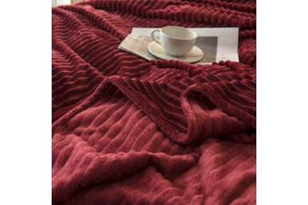 Cuddly Solid Soft Warm Flannel Throw Sofa Bed Blanket Flannel Rug All Size 180x200cm-937