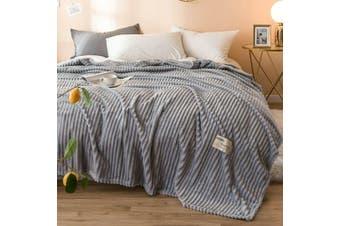 Cuddly Solid Soft Warm Flannel Throw Sofa Bed Blanket Flannel Rug All Size 180x200cm-941