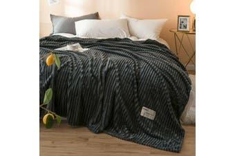 Cuddly Solid Soft Warm Flannel Throw Sofa Bed Blanket Flannel Rug All Size 180x200cm-943