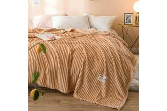 Cuddly Solid Soft Warm Flannel Throw Sofa Bed Blanket Flannel Rug All Size 200X230cm-939