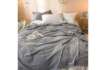 Cuddly Solid Soft Warm Flannel Throw Sofa Bed Blanket Flannel Rug All Size 200X230cm-941