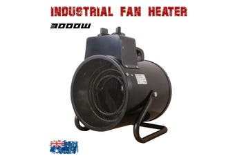 Electric Industrial Fan Heater 3000W Portable Workshop Dryer Blower AU