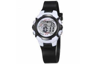 Children Kids Watch Boys Girls Digital LED Sports Watches Wristwatches-Black