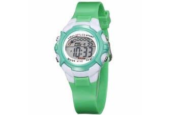 Children Kids Watch Boys Girls Digital LED Sports Watches Wristwatches-Green