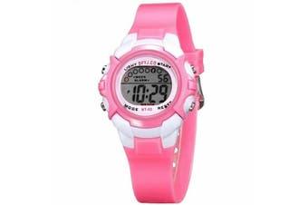Children Kids Watch Boys Girls Digital LED Sports Watches Wristwatches-Pink