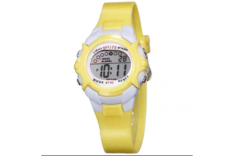 Children Kids Watch Boys Girls Digital LED Sports Watches Wristwatches-Yellow