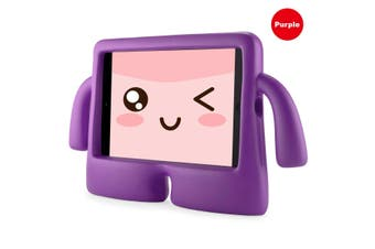 Kids Heavy Duty Stand Shockproof Case Cover For IPad2 3 4-Purple