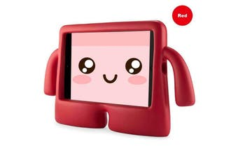 Kids Heavy Duty Stand Shockproof Case Cover For IPad2 3 4-Red