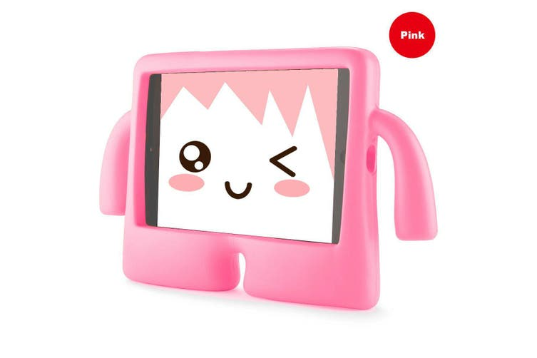 Kids Heavy Duty Stand Shockproof Case Cover For IPad Mini4-HotPink