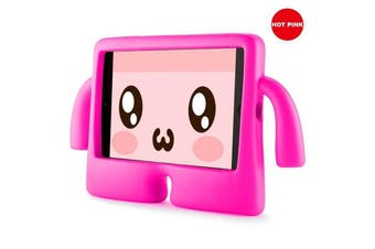 Kids Heavy Duty Stand Shockproof Case Cover For IPad Mini5-HotPink