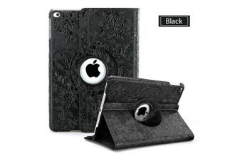 360 Leather Case Cover for Apple iPad Air 2nd Gen-Black