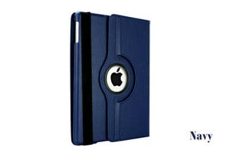 Smart 360 Rotate Leather Case Cover For Apple iPad Air 2nd Gen-Navy