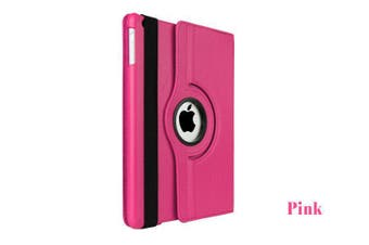 Smart 360 Rotate Leather Case Cover For Apple iPad Air 2nd Gen-Pink