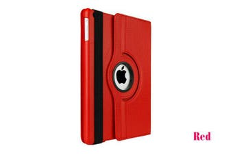 Smart 360 Rotate Leather Case Cover For Apple iPad 2 3 4-Red