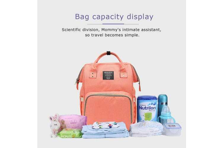 Luxury Multifunctional Baby Diaper Nappy Backpack Maternity Mummy Changing Bag-Orange