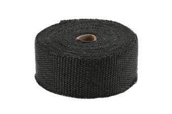2000F Exhaust Wrap Heat Resistant Black 15M*50mm + 10 Stainless Steel Ties