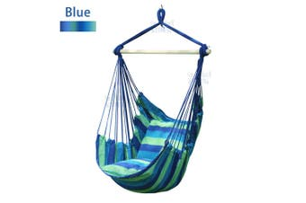 Gardern Deluxe Hanging Hammock Chair Swing Garden Outdoor Camping OZ Seller Blue