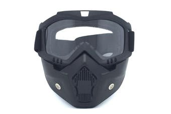 Safety Eye Guard Face Shield Goggles Work Lab Factory Eyewear Protective Glasses-Black & Clear