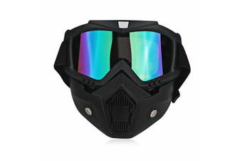 Safety Eye Guard Face Shield Goggles Work Lab Factory Eyewear Protective Glasses-Black & Colorful