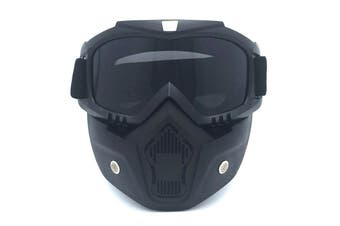 Safety Eye Guard Face Shield Goggles Work Lab Factory Eyewear Protective Glasses-Black & Gray