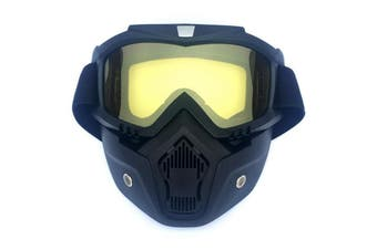 Safety Eye Guard Face Shield Goggles Work Lab Factory Eyewear Protective Glasses-Black & Yellow