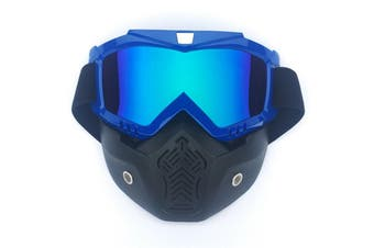 Safety Eye Guard Face Shield Goggles Work Lab Factory Eyewear Protective Glasses-Blue & Colorful