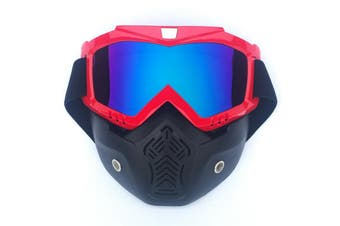Safety Eye Guard Face Shield Goggles Work Lab Factory Eyewear Protective Glasses-Red & Colorful