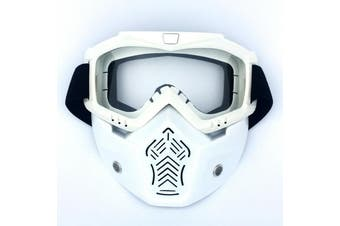 Safety Eye Guard Face Shield Goggles Work Lab Factory Eyewear Protective Glasses-White & Clear