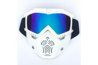 Safety Eye Guard Face Shield Goggles Work Lab Factory Eyewear Protective Glasses-White & Colorful