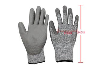 SAFETY GLOVES CUT RESISTANT LEVEL 5 ANTI CUT WORK GLOVES HAND PROTECTION -L (9.5cm x 24cm)