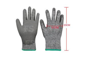 SAFETY GLOVES CUT RESISTANT LEVEL 5 ANTI CUT WORK GLOVES HAND PROTECTION -M (8.5cm x 23cm)