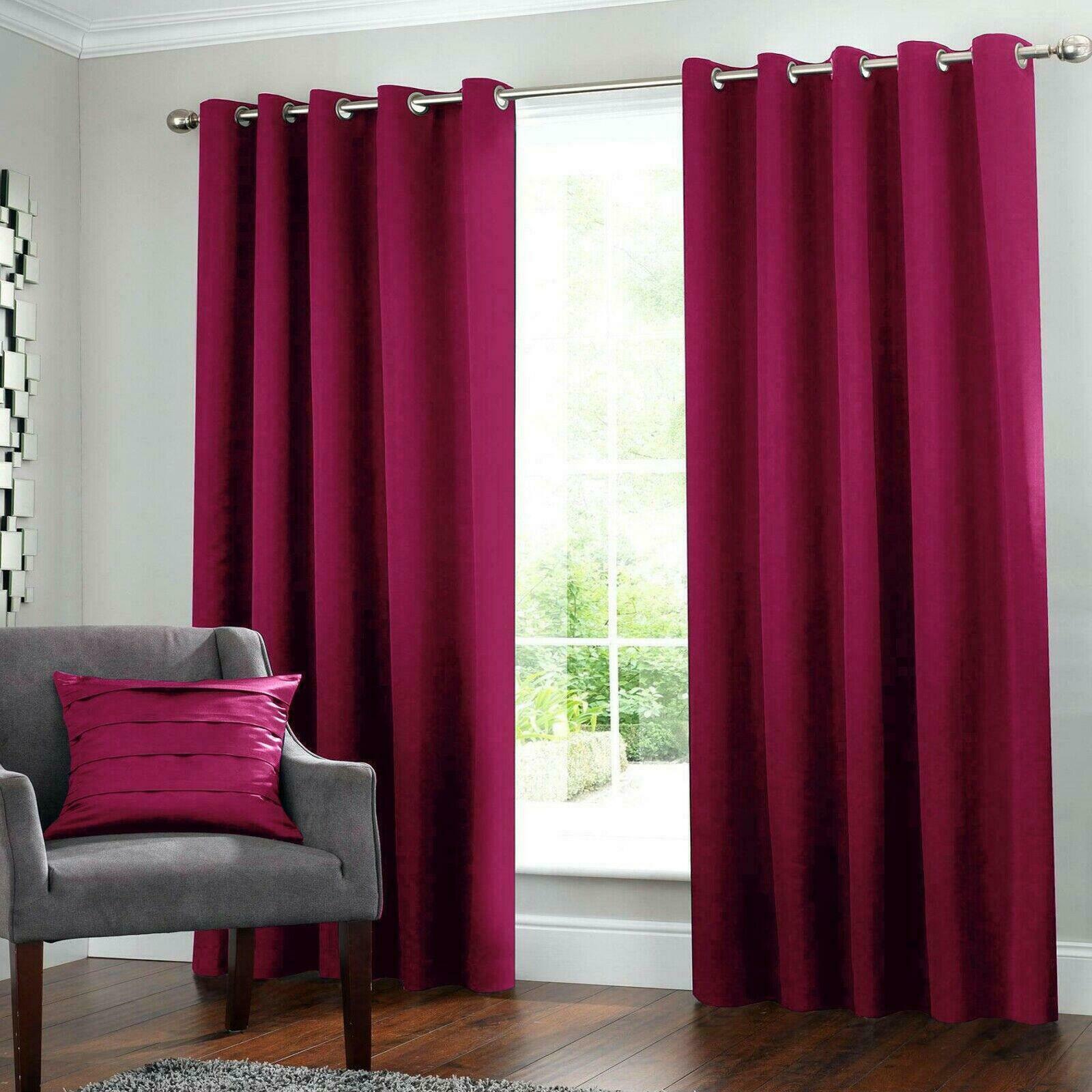 2 Blockout Curtains Eyelet Window Curtain Blackout Draperies Living Room Bedroom 250x230cm Burgundy Kogan Com
