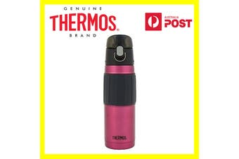 New THERMOS 530ml Stainless Steel Vacuum Insulated Hydration Bottle Vaccum Flask-Red