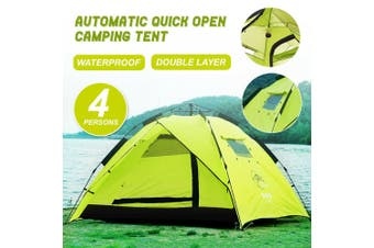 Double Layer Waterproof Automatic Quick Open Camping Tent Outdoor 3-4 Persons - Model 1