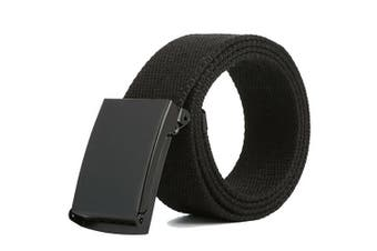 Heavy Duty Army Belt Outdoor Rigger Military Tactical Quick-Release Metal Buckle - Black