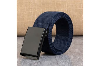 Heavy Duty Army Belt Outdoor Rigger Military Tactical Quick-Release Metal Buckle - Blue