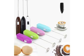 Mini Whisk Kitchen Froth Milk Egg Mixer Coffee Shake Handle Electric Beater - Random Colour