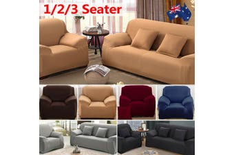 Stretch Sofa Cover Couch Lounge Recliner Chair Slipcover Protector - Beige / 3 seater(195-230CM