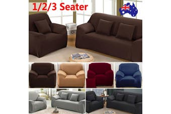 Stretch Sofa Cover Couch Lounge Recliner Chair Slipcover Protector - Chocolate / 1 seater-0-140CM-TechAcc