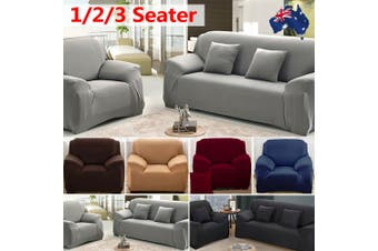 Stretch Sofa Cover Couch Lounge Recliner Chair Slipcover Protector - Grey / 2 seater-45-185CM