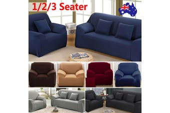 Stretch Sofa Cover Couch Lounge Recliner Chair Slipcover Protector - Navy Blue / 3 seater(195-230CM