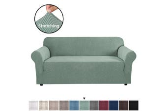 Form Fitted Stretch Couch Cover Sofa Cover Sofa Slip Covers Slipcovers More Size - Dark Cyan / Three Seater