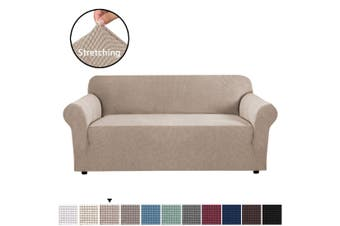 Form Fitted Stretch Couch Cover Sofa Cover Sofa Slip Covers Slipcovers More Size - Sand / Three Seater