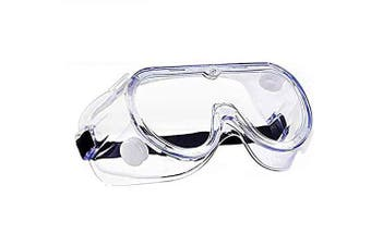 2 Pack Goggles Crystal Clear Eye Protection, Dust-Proof Breathable Splash Goggles for General Use