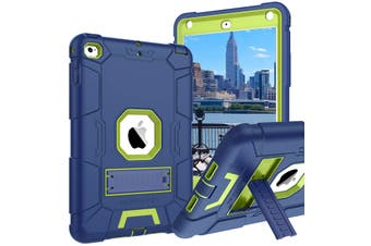 Kids ShockProof Case Heavy Duty Tough Kick Stand Protective Cover For iPad 2/3/4-Navy