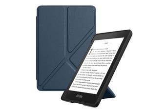 Origami Magnetic PU Leather Case Cover for Kindle 8th-DarkBlue