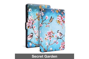 Quality Colorful Painting Leather Cover for Kindle Paperwhite 1/2/3-SecretGarden