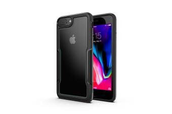 MAXSHIELD Slim Clear Heavy Duty ShockProof Case for iPhone 6/6s/7/8-Black