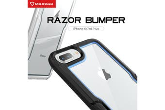 MAXSHIELD Slim Clear Heavy Duty ShockProof Case for iPhone SE 2020-Black